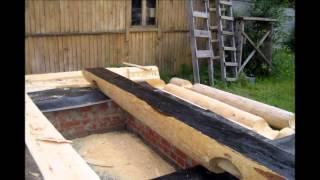 видео строительство деревянных домов из оцилиндрованного