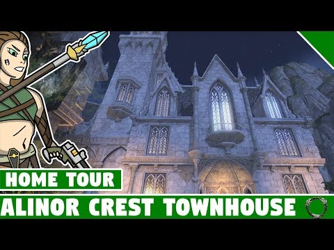 Alinor Crest Townhouse Tour! ESO Summerset Home! Elder Scrolls Online