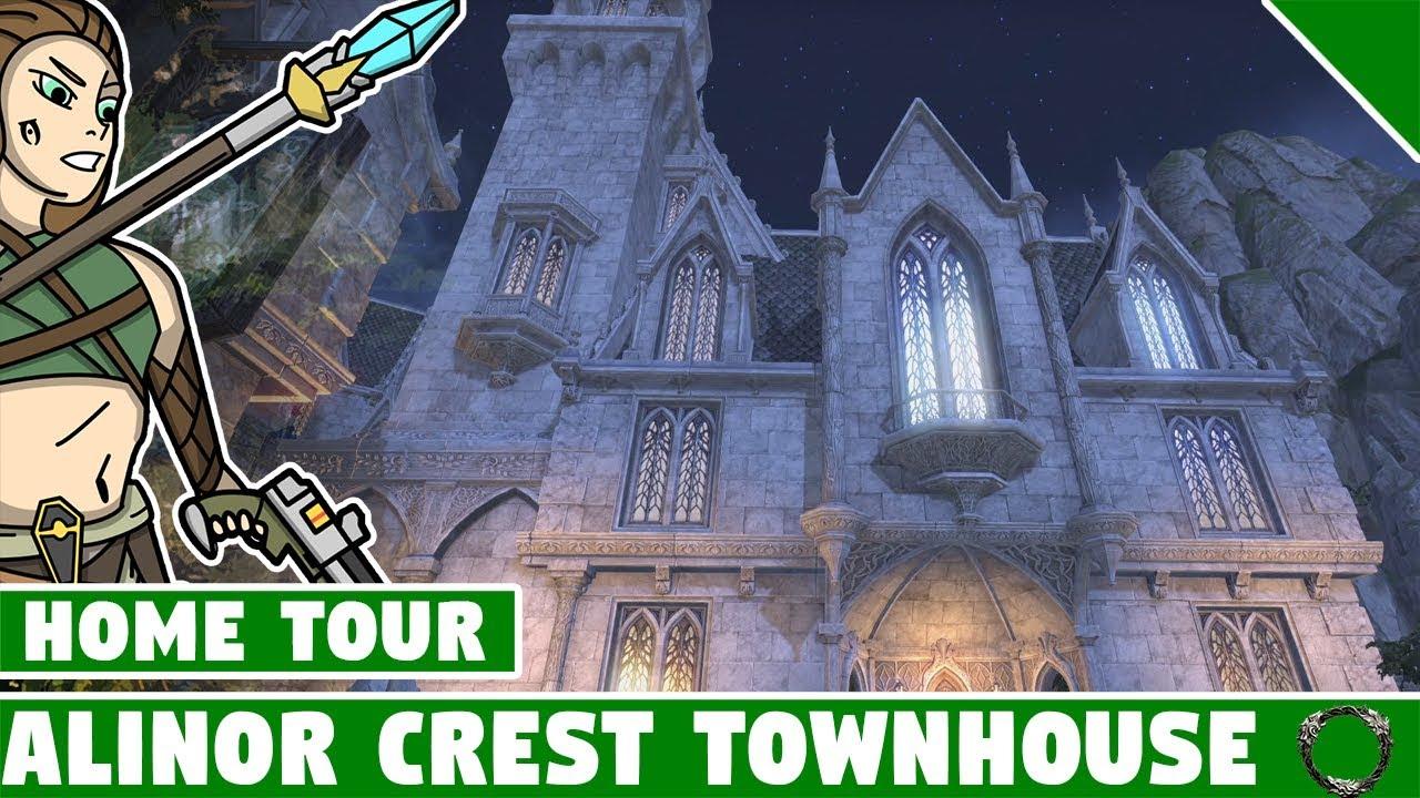 Alinor Crest Townhouse Tour! ESO Summerset Home! Elder Scrolls Online