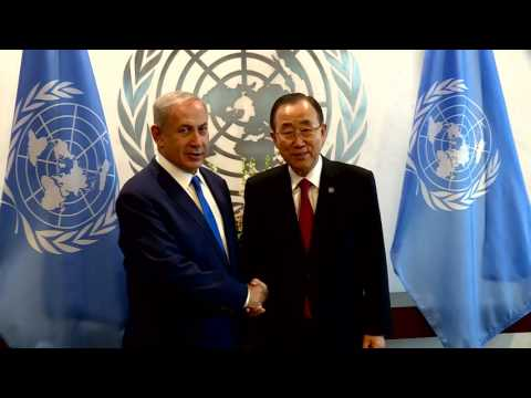 PM Netanyahu Meets UN Secretary General Ban Ki-moon