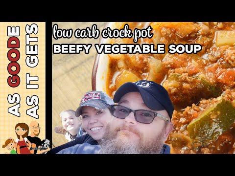 Crock Pot Beefy Vegetable Soup (Low Carb)