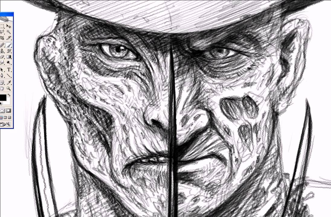 Freddy Krueger Speedpainting Youtube