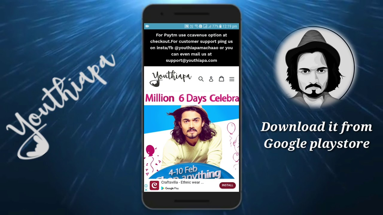 Youthiapa App ( BB ki Vines official merchandise) download it from Play  Store