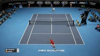 في التنس الدولية - ستيفانوس Tsitsipas vs رافائيل نادال - PS4 اللعب
