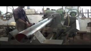 HIPAT BRAND HEAVY DUTY BIG BORE PIPE CUTTING LATHE MACHINE MACHINE