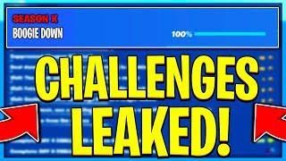 FORTNITE SEASON X BOOGIE DOWN CHALLENGES LEAKED! SEASON X ALL CHALLENGES EASY GUIDE! (BOOGIE DOWN)