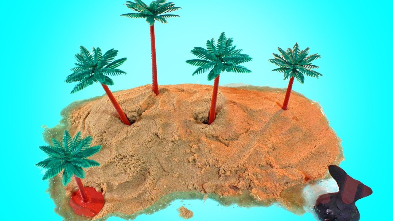 Make Your Own Kinetic Sand Island By Hooplakidz How To