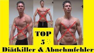 TOP 5 Diätkiller | ABNEHM & DIÄT-Fehler die DU unbedingt vermeiden solltest