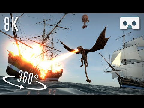 360 VR Sea Monsters Scary Video: 8K Virtual Reality Horror 3D Videos For Oculus Quest, Oculus Rift S