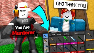 If I DO NOT get murderer first round I MUST give away all my godlys.. (Roblox MM2)