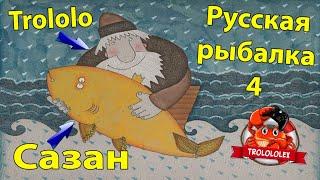 Русская рыбалка 4 Сазан Что то клюнуло и не идёт может это Сом