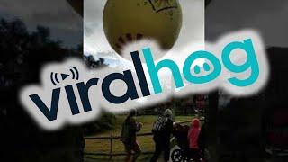 Helpless Hot Air Balloon Riders Whipped Around By Wind || ViralHog