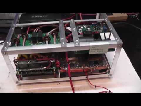 Test power amplifier 2400W BLF188XR 2 pcs water cooling for Sebastian from  Argentina