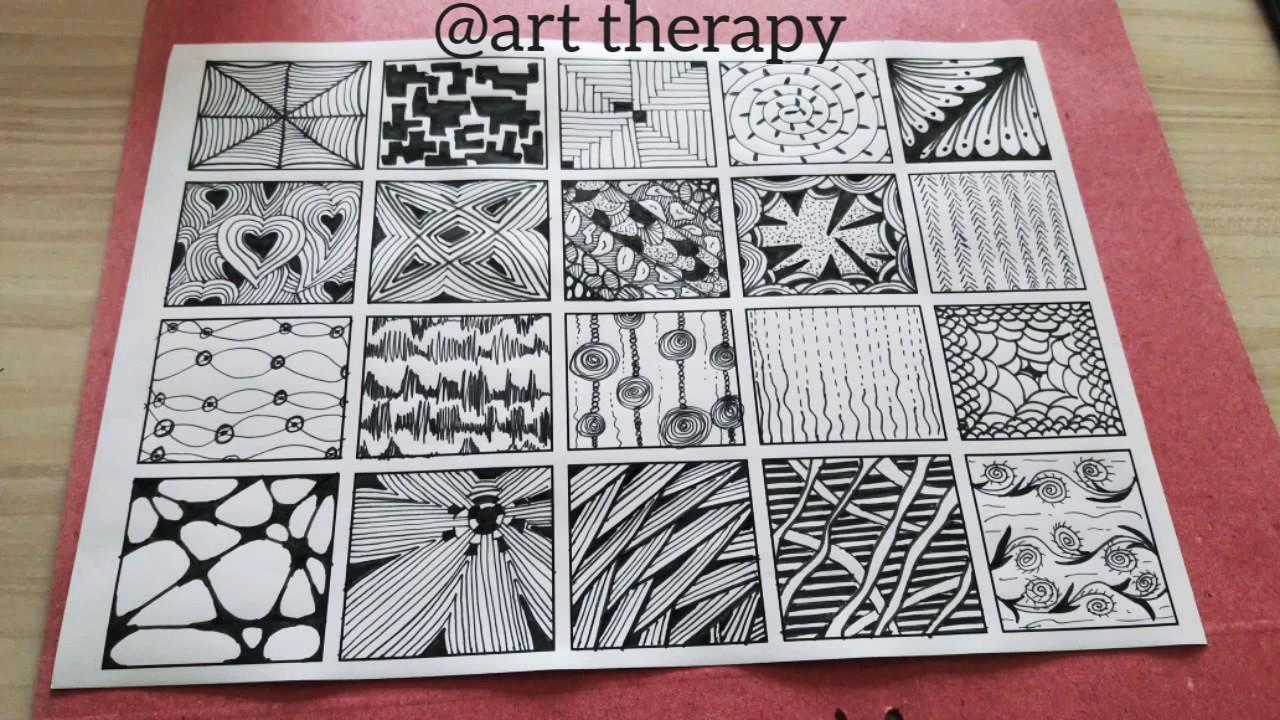 20 kolay zentangle/doodle patterns/desen ve çizimleri