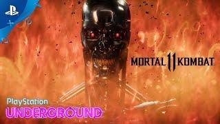 Mortal Kombat 11 – Terminator Gameplay With Ed Boon   PlayStation Underground