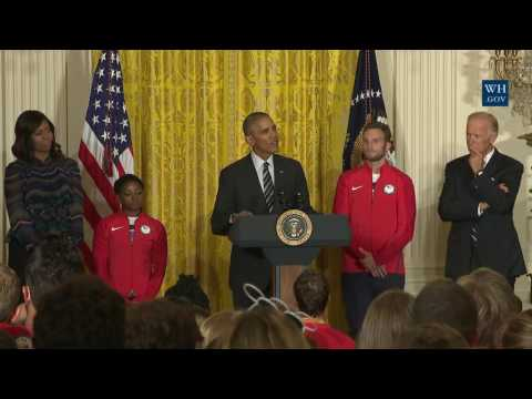 Obama Rights Historic Racial Wrong For Olympic Heroes