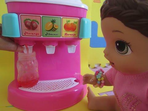 Como fazer SUCO DE VÀRIOS SABORES para Baby Alive e outras bonecas. Comidinha para bonecas.