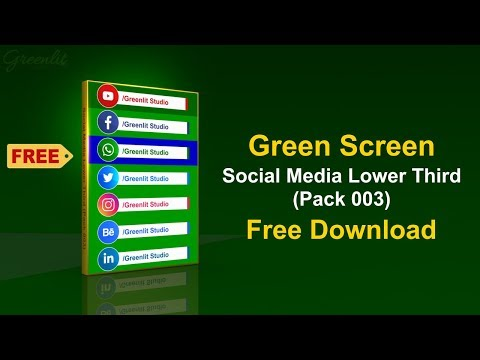 Free Green Screen Social Media Lower Third Pack 3 L Free Download L Download