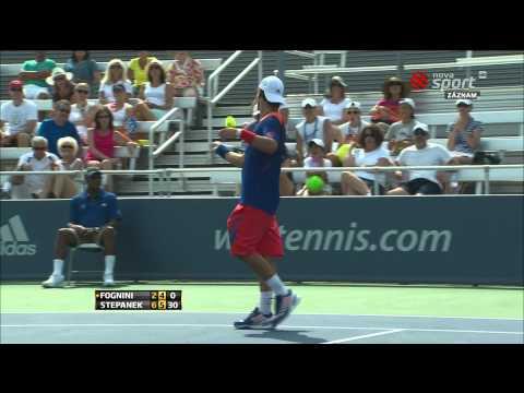 Crazy Fabio Fognini vs Radek Stepanek (ATP Cincinnati 1000) 12.8.2013