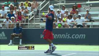 Crazy Fabio Fognini vs Radek Stepanek (ATP Cincinnati 1000) 12.8.2013