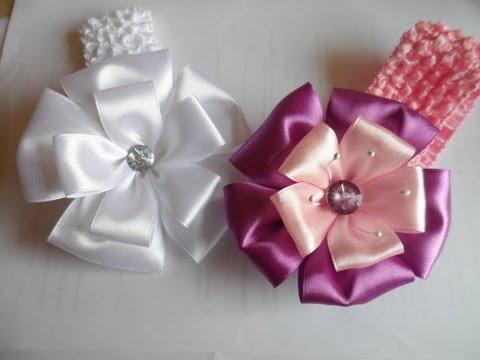 Красивый бант из ленты своими руками МК/ DIY Beautiful ribbon bow