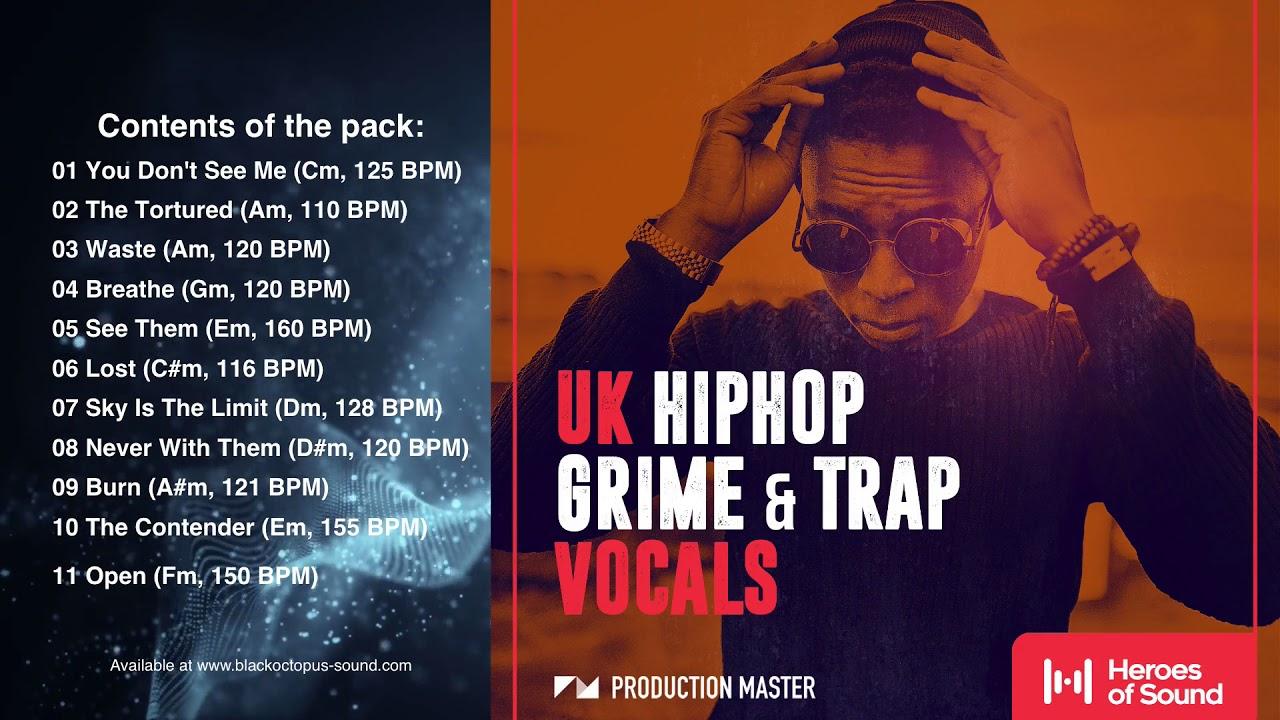 Production Master - UK Hip Hop, Grime and Trap Vocals (DEMO)