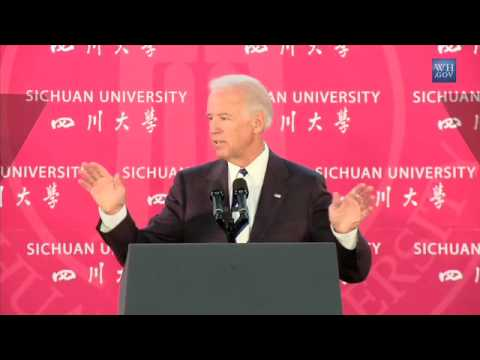 Vice President Joe Biden Speaks on U.S. - China Relations