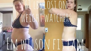 61 Pounds Lost on Weight Watchers!  My Journey So Far