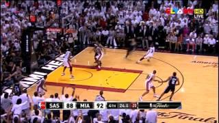 2013 Slamups NBA FINALS  game7... Heat v s Spurs highlights..Lebron lights out!