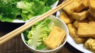 Cách làm món Bún Đậu Mắm Tôm - Fried Tofu w/ Fermented shrimp paste sauce & Rice Vermicelli