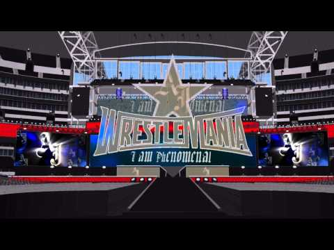 AJ Styles WWE Theme Mix on a custom WRESTLEMANIA 32 Stage Phenomenal and Evil Ways w ArenaEffect