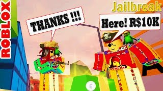 AWESOME DONATIONS SAVE THE DAY in Jailbreak! || ROBLOX