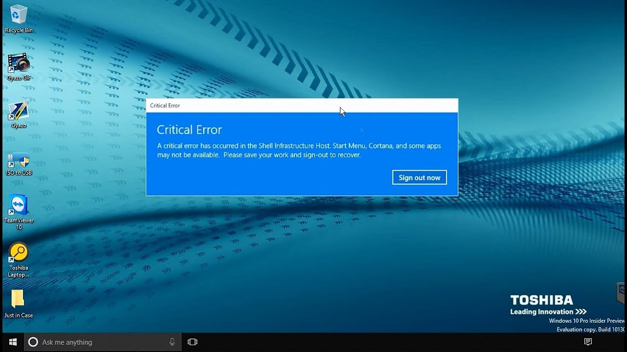 how to fix critical error in windows 7