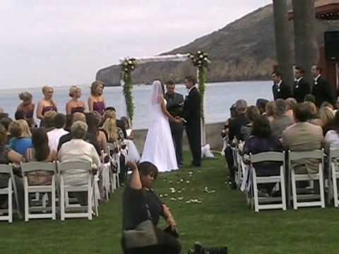 Outdoor Ceremony: High Energy DJ Paul Peterson Wedding DJ in San Diego