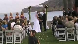 Outdoor Ceremony: High Energy DJ Paul Peterson Wedding DJ in San Diego
