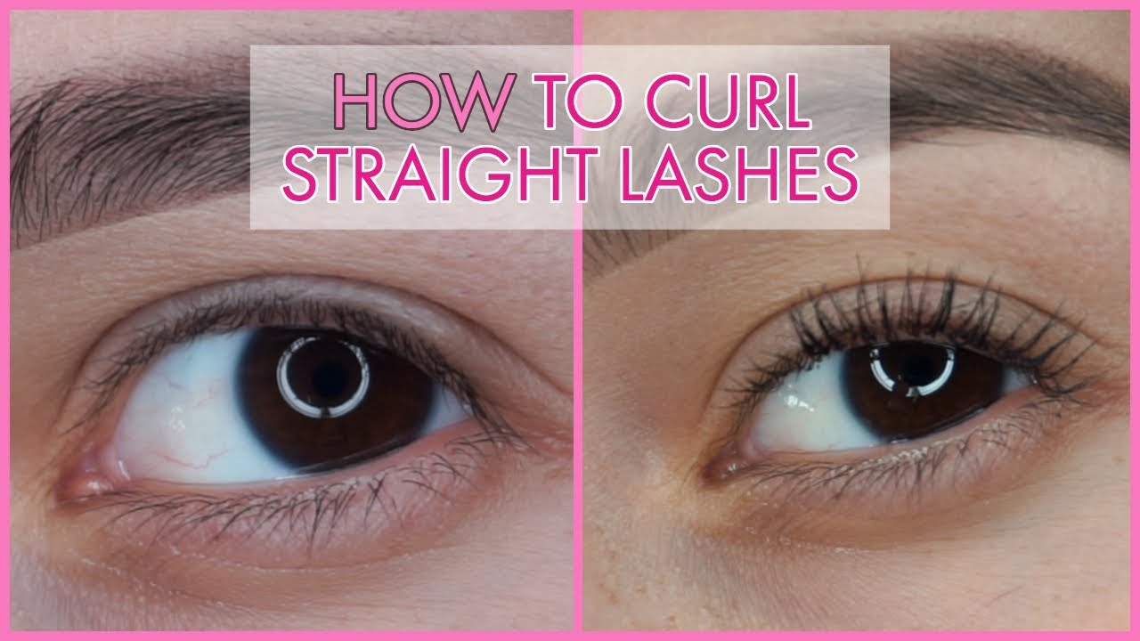 How To Curl Straight Lashes Raquel Mitchell