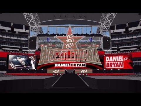 Daniel Bryan's WWE Theme on a WrestleMania 32 Custom Stage (Flight of the Valkyries w/ Arena Effect)