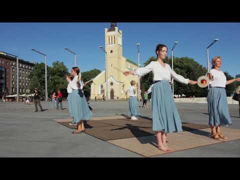 18 Flashmob of K-Culture in Tallinn old town by Tallinn King Sejong Institute