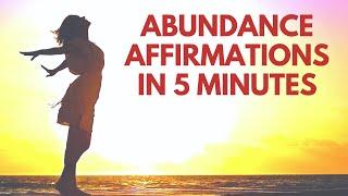 Morning ABUNDANCE Affirmations | 5 Minutes | Bob Baker I AM Affirmations