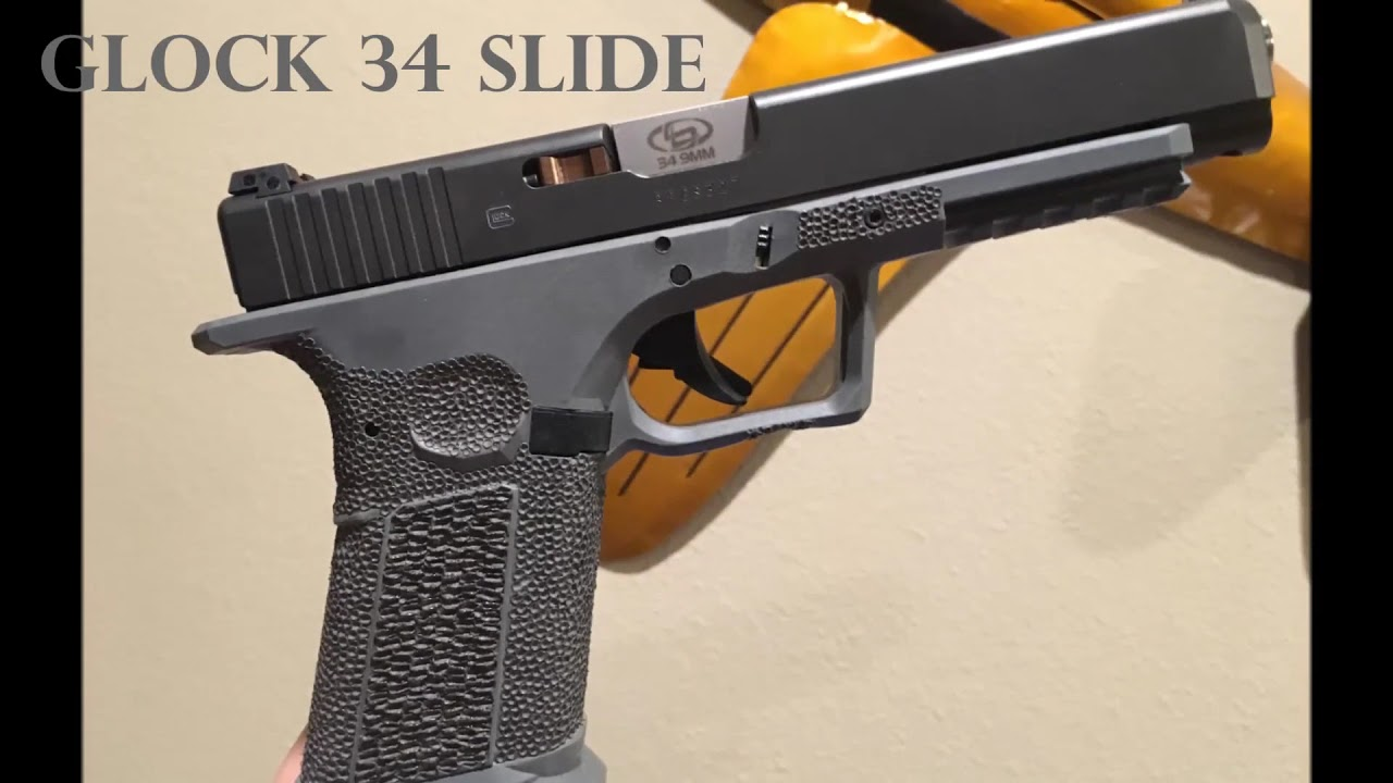 Customized Stippling Polymer80 PF940v1 5 80% Pistol Frame Kit to a Glock 34