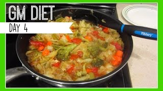 VLOG: GM DIET DAY 4/Cabbage Soup Diet Recipe (10/1/15) | ALJOing