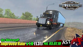 "[""ATS"", ""American Truck Simulator"", ""weather mod"", ""Improved rain v1.0 (1.31) rel. 03.07.18"", ""by AlexeyP""]"