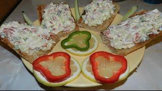 Сытно, быстро, вкусно! Обалдено вкусный салат с лососем на гренке!