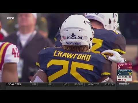 NCAAF 11 04 2017 Iowa State at West Virginia 720p60
