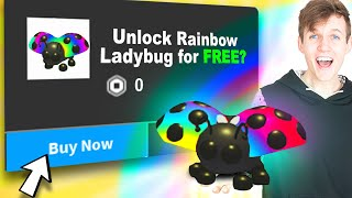 Can We Get The NEW RAINBOW LADYBUG PET FOR FREE In Roblox ADOPT ME?! (ADOPT ME FARM SHOP UPDATE!)