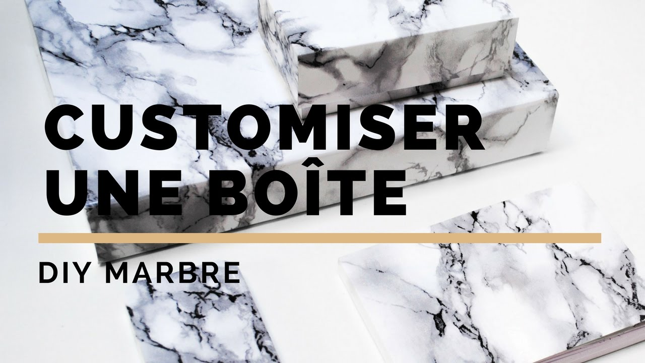 diy marbre customiser une boite en carton youtube. Black Bedroom Furniture Sets. Home Design Ideas