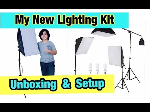 My New Lighting Kit Unboxing And Setup Ls Photo Pro Studio Youtube