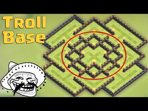 Clash of clans - Town hall 8 (TH8) Troll Base - Best Protect 100% Dark Elixir + Replay