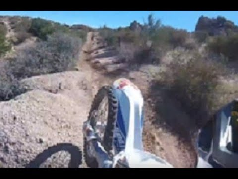 Fast Arizona Single Track on 2016 KTM 250 xcw