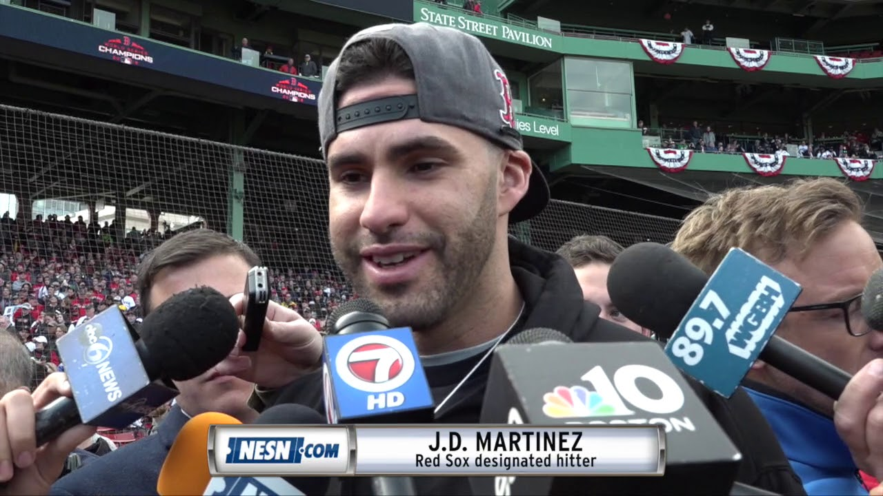 5ac630dbd431e4 J.D. Martinez ahead of Red Sox 2018 World Series victory parade ...